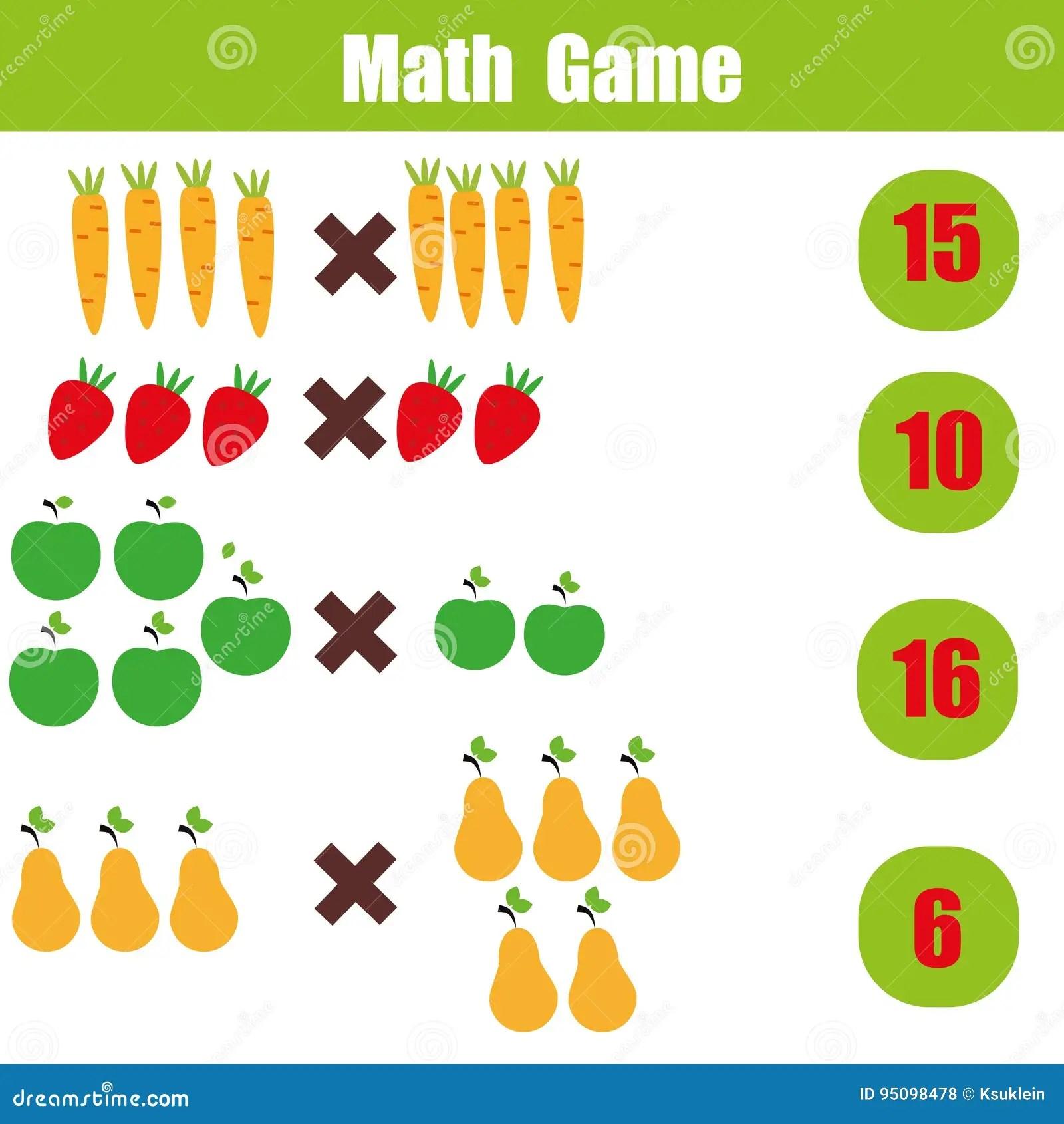 Math Educational Game For Children Multiplication