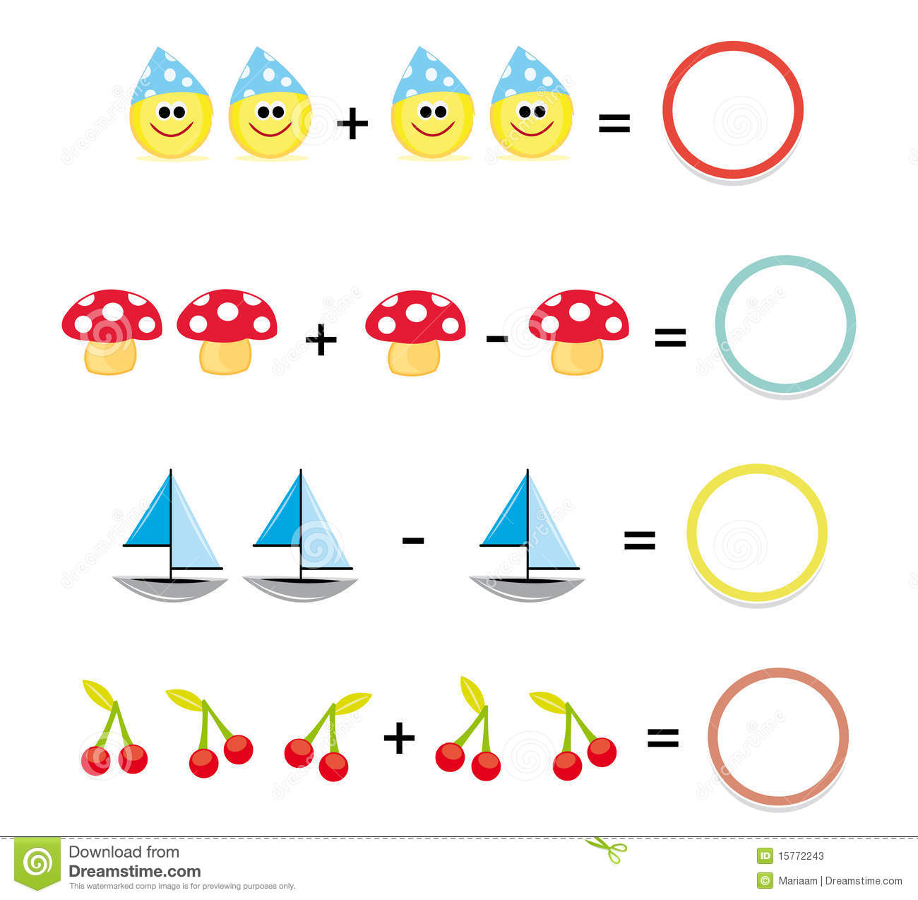 Math Game Part 3 Stock Illustration Image Of Math Boat