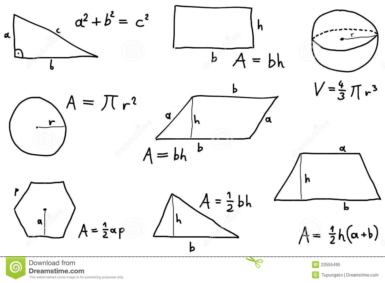 Math Lesson Stock Vector Image Of Area Education Math
