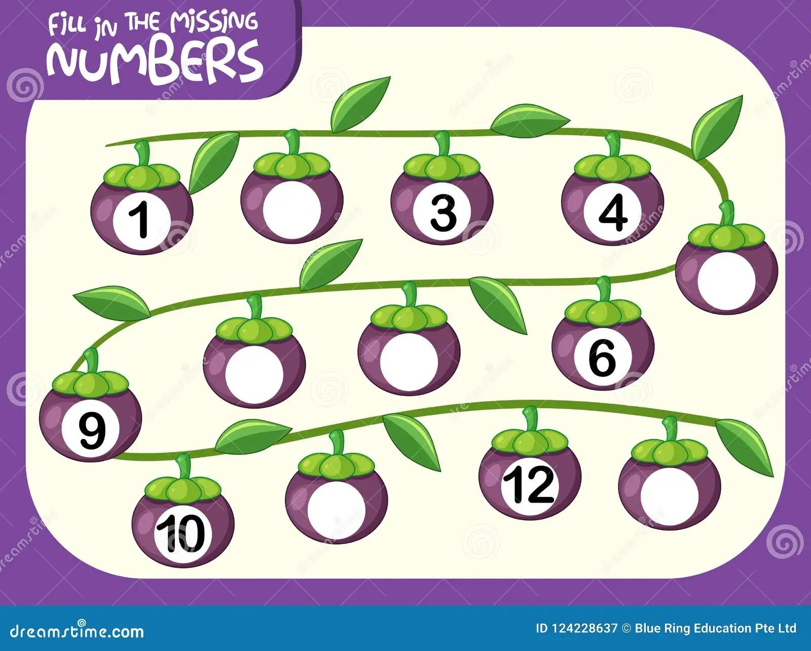 A Math Number Worksheet Stock Vector Illustration Of