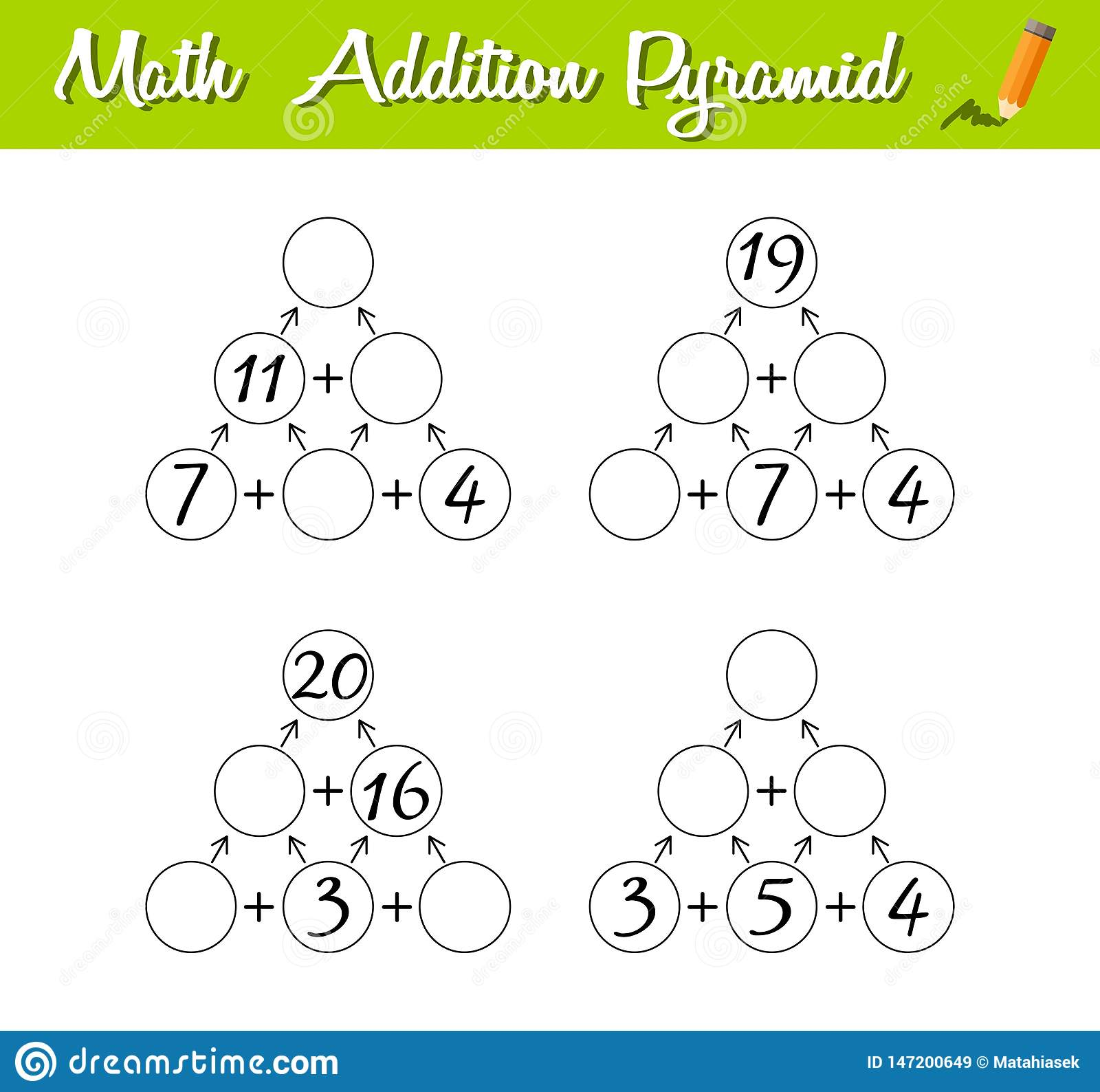 Math Pyramid Game Educational A Mathematical Game