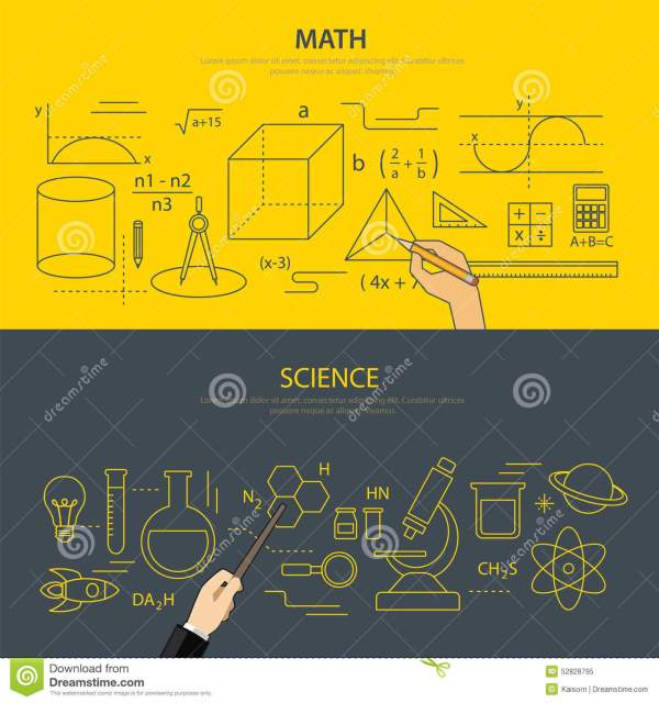 Math And Science Education Concept Stock Vector