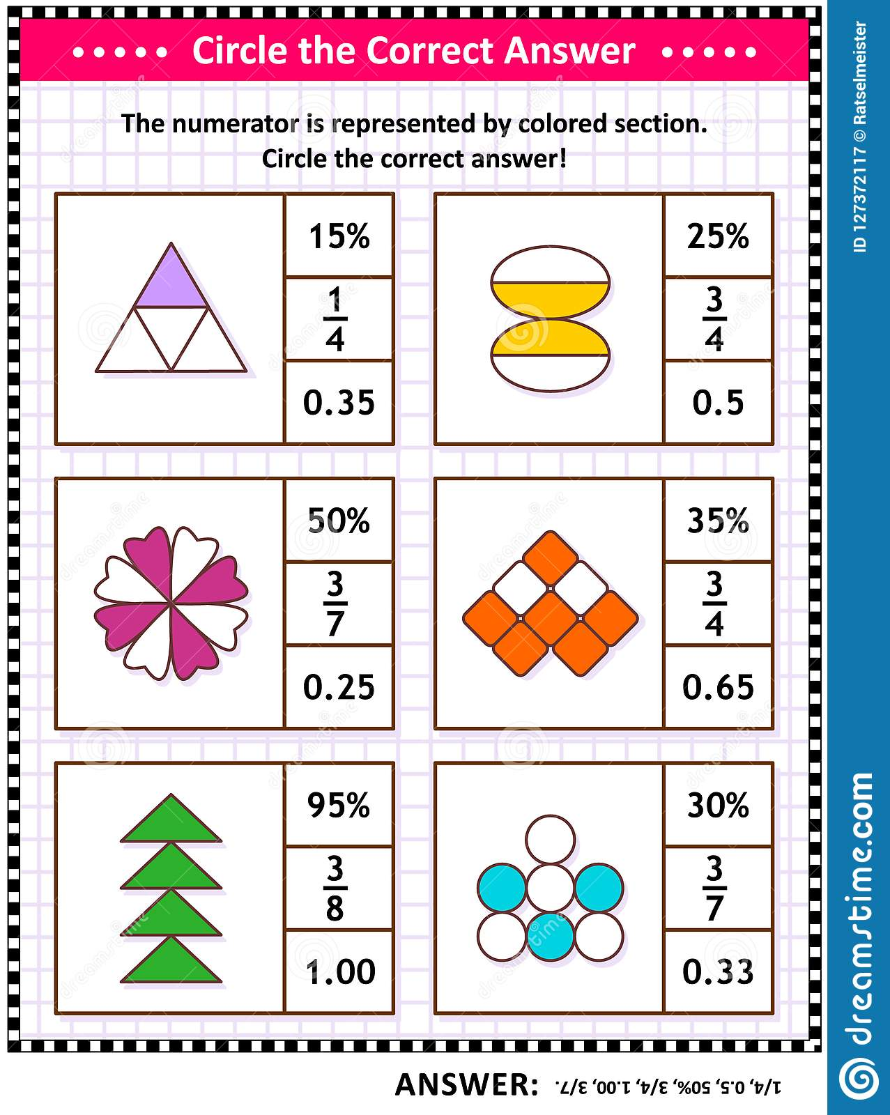 Reducing Fractions Worksheet Puzzle