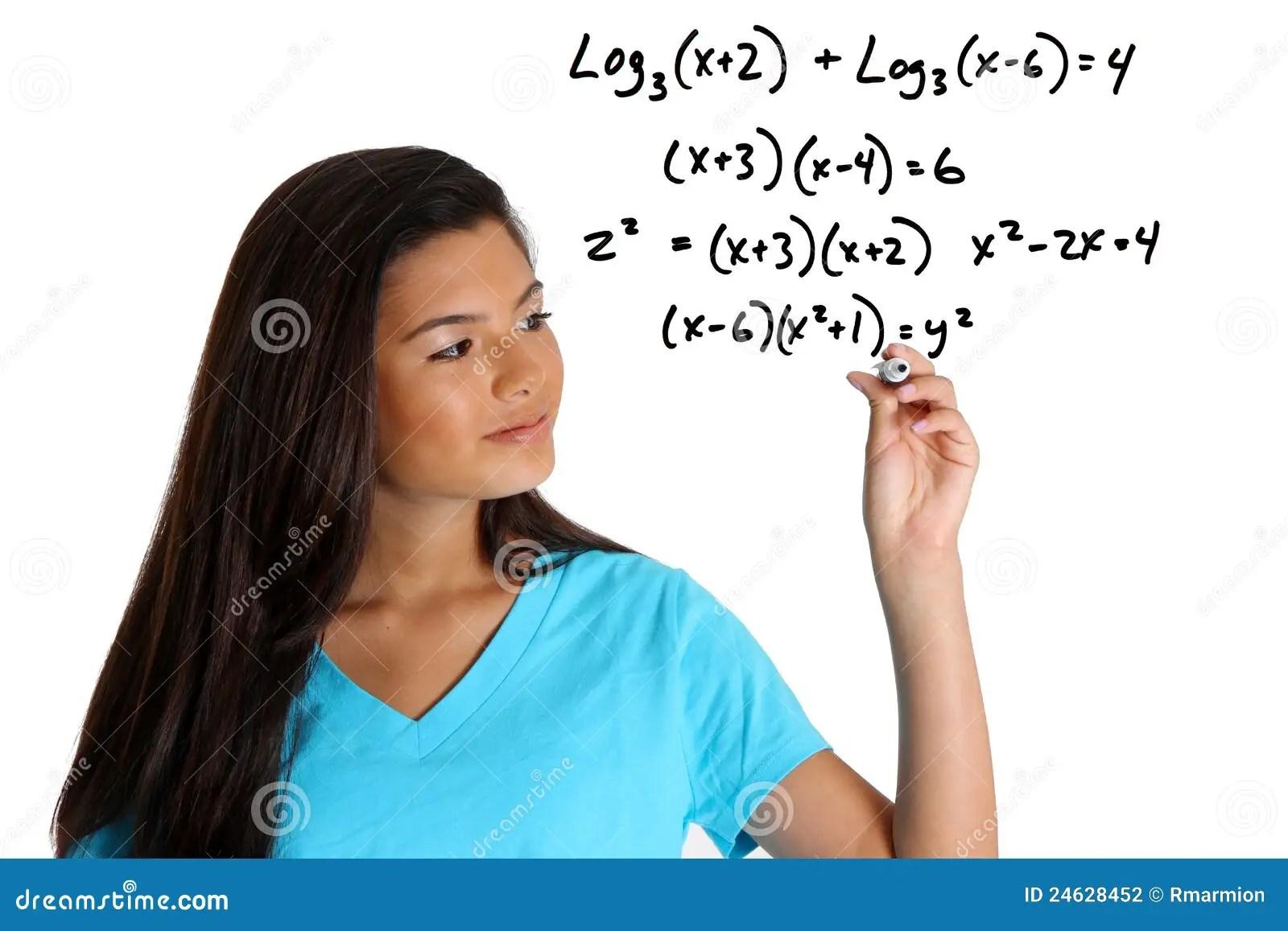 Math Student Stock Photography Image 24628452