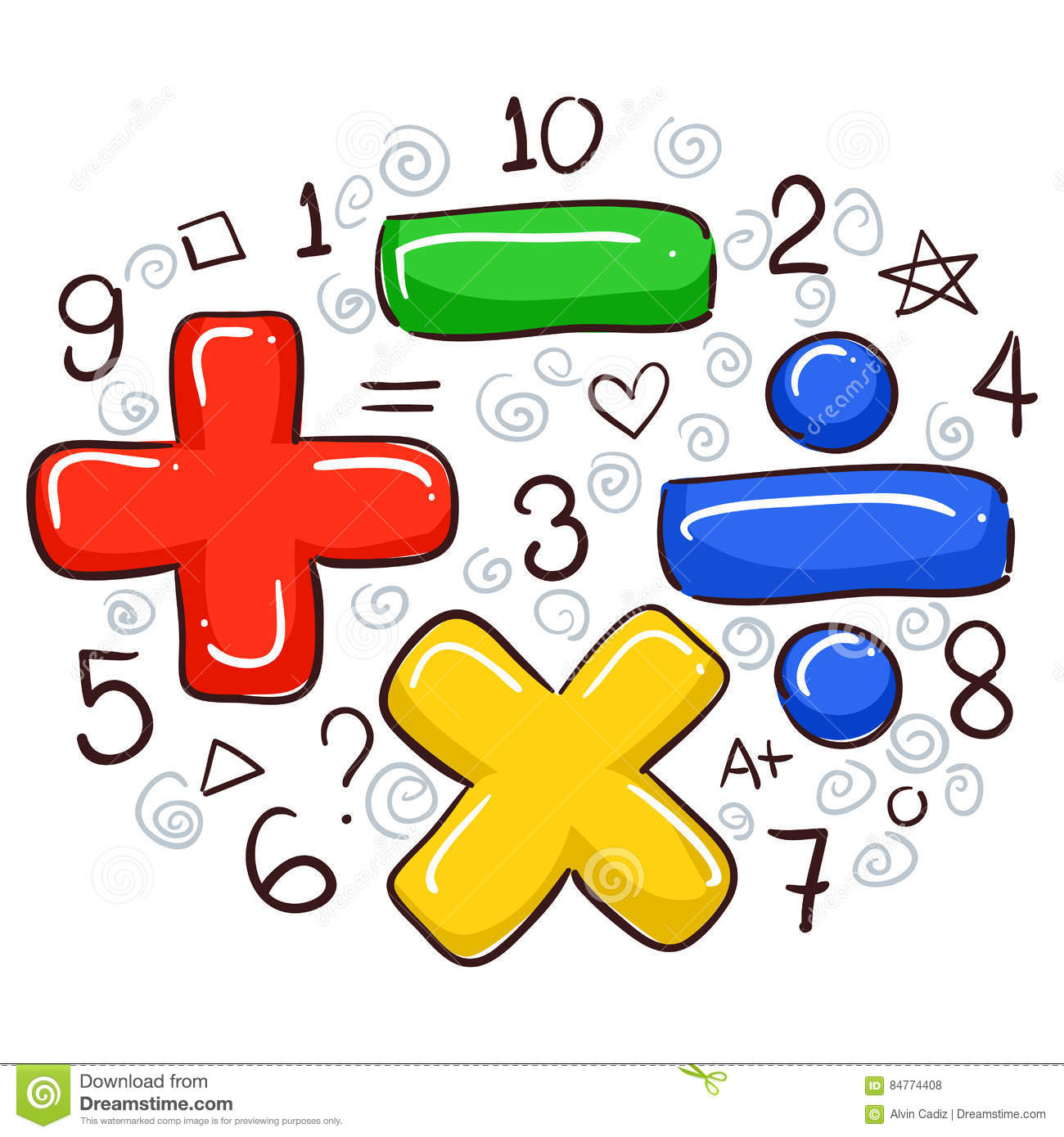 Math Symbols And Numbers Stock Vector Illustration Of