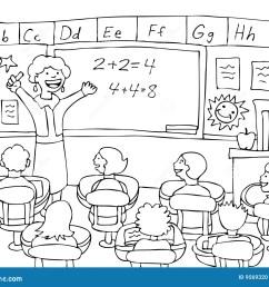 math teacher black and white [ 1300 x 1086 Pixel ]