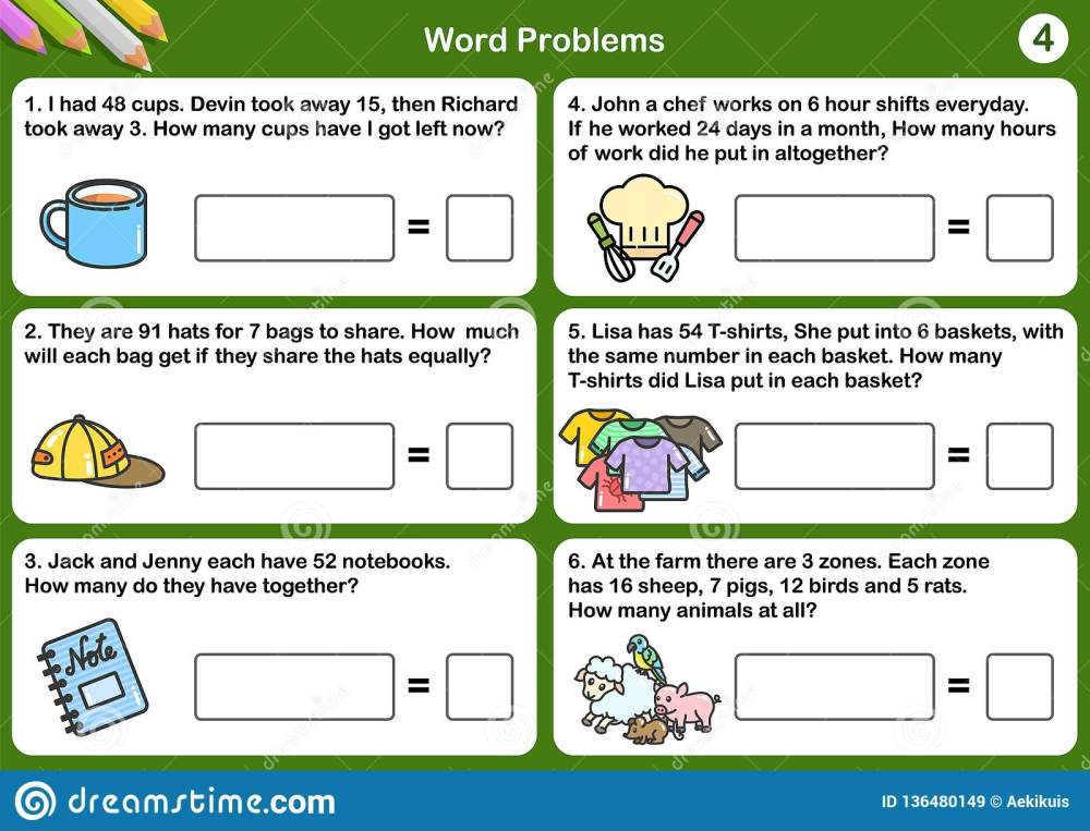 medium resolution of Math Word Worksheets   Printable Worksheets and Activities for Teachers