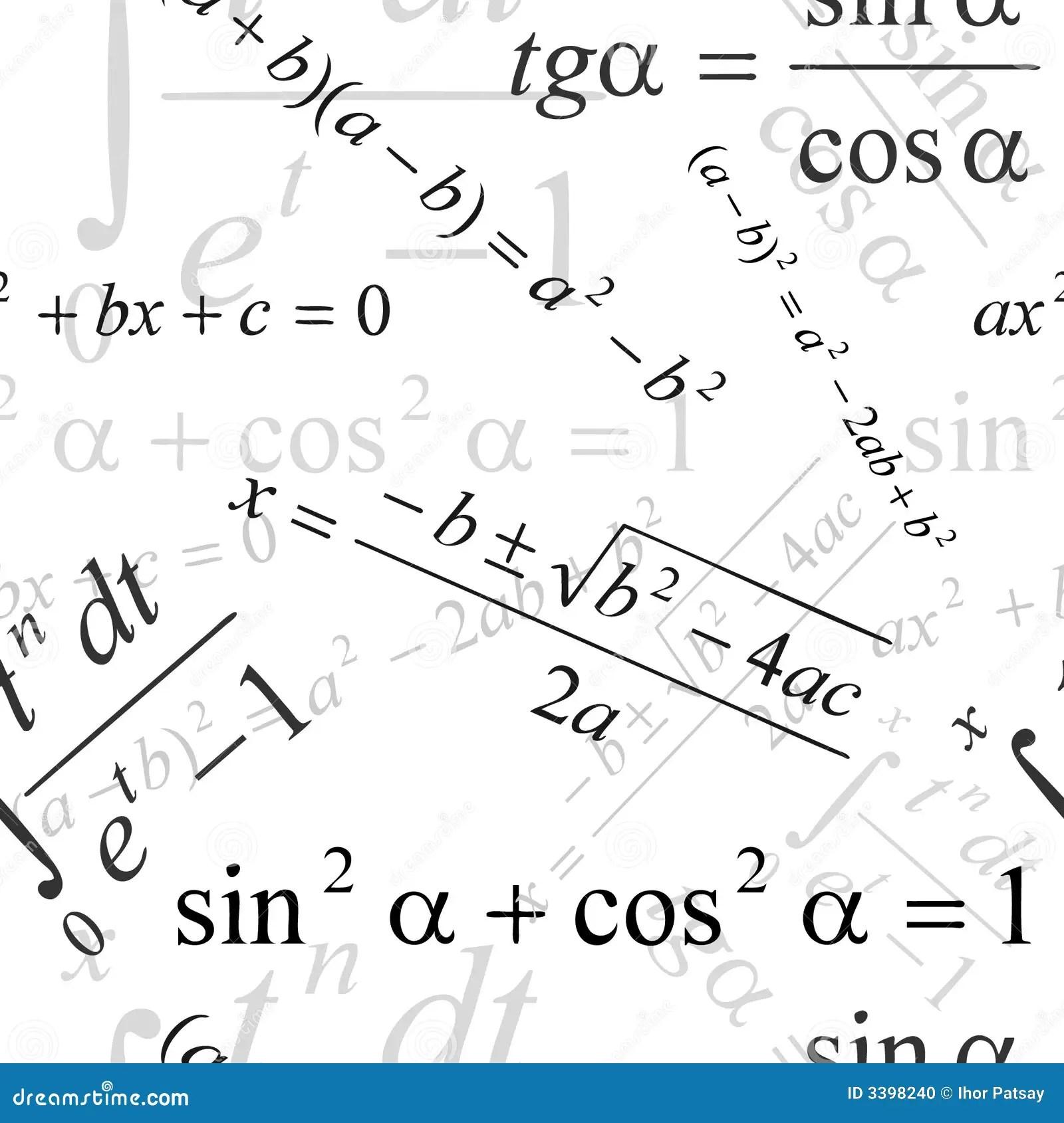 Mathematical wallpaper stock vector. Illustration of