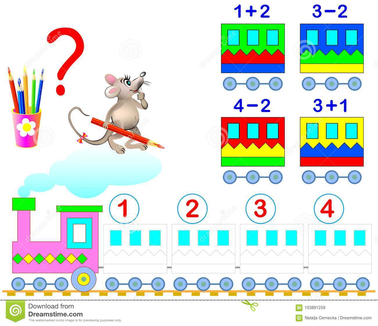 Mathematical Worksheet For Children On Addition And