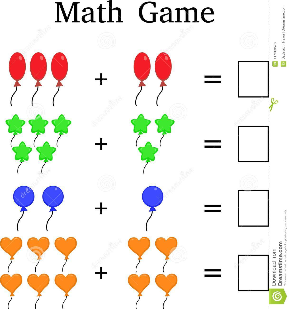hight resolution of Mathematics Educational Game For Kids Stock Photo - Illustration of orange