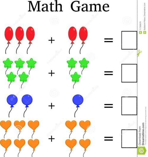 small resolution of Mathematics Educational Game For Kids Stock Photo - Illustration of orange