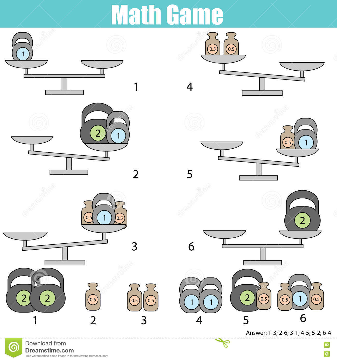 Mathematics Educational Game For Kids Fun Worksheets For
