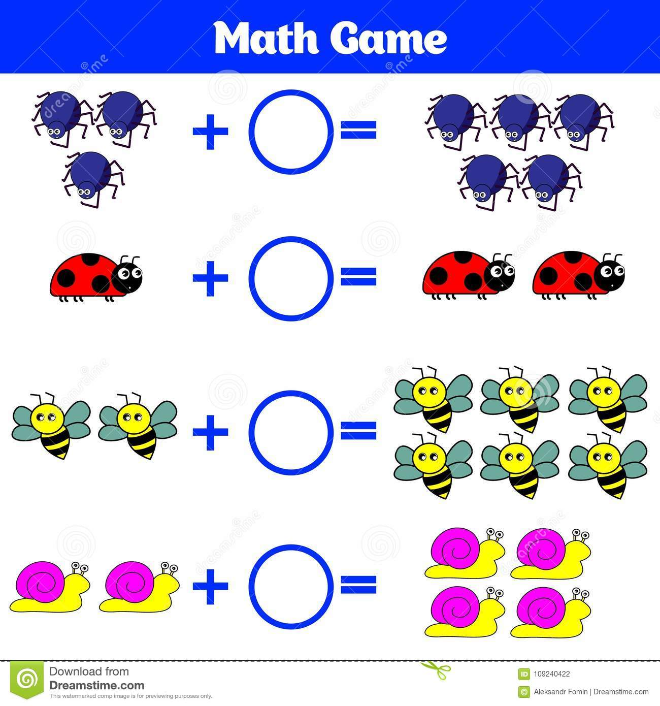 Mathematics Educational Game For Children Learning