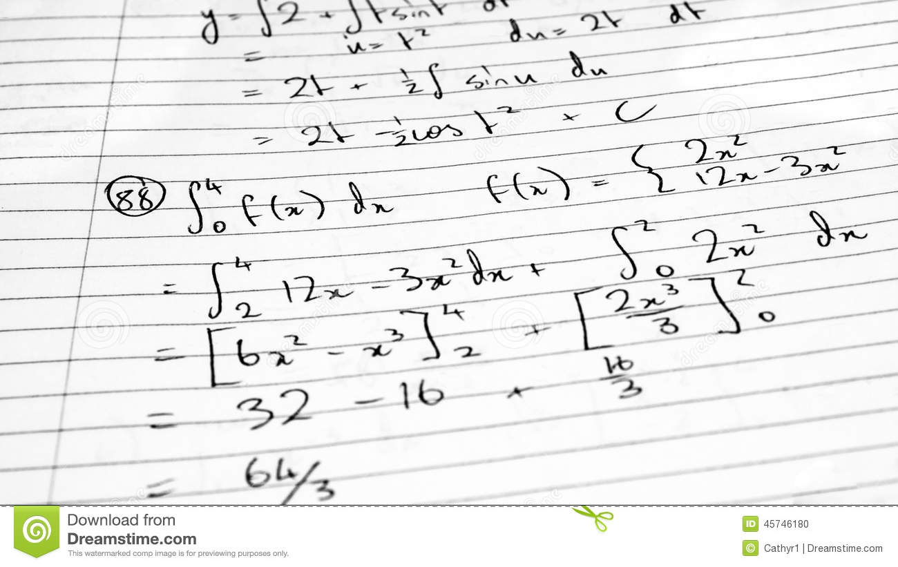 Mathematics Formula Stock Image