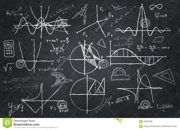 Mathematics Sketches Blackboard Stock - Of Numbers 65692288
