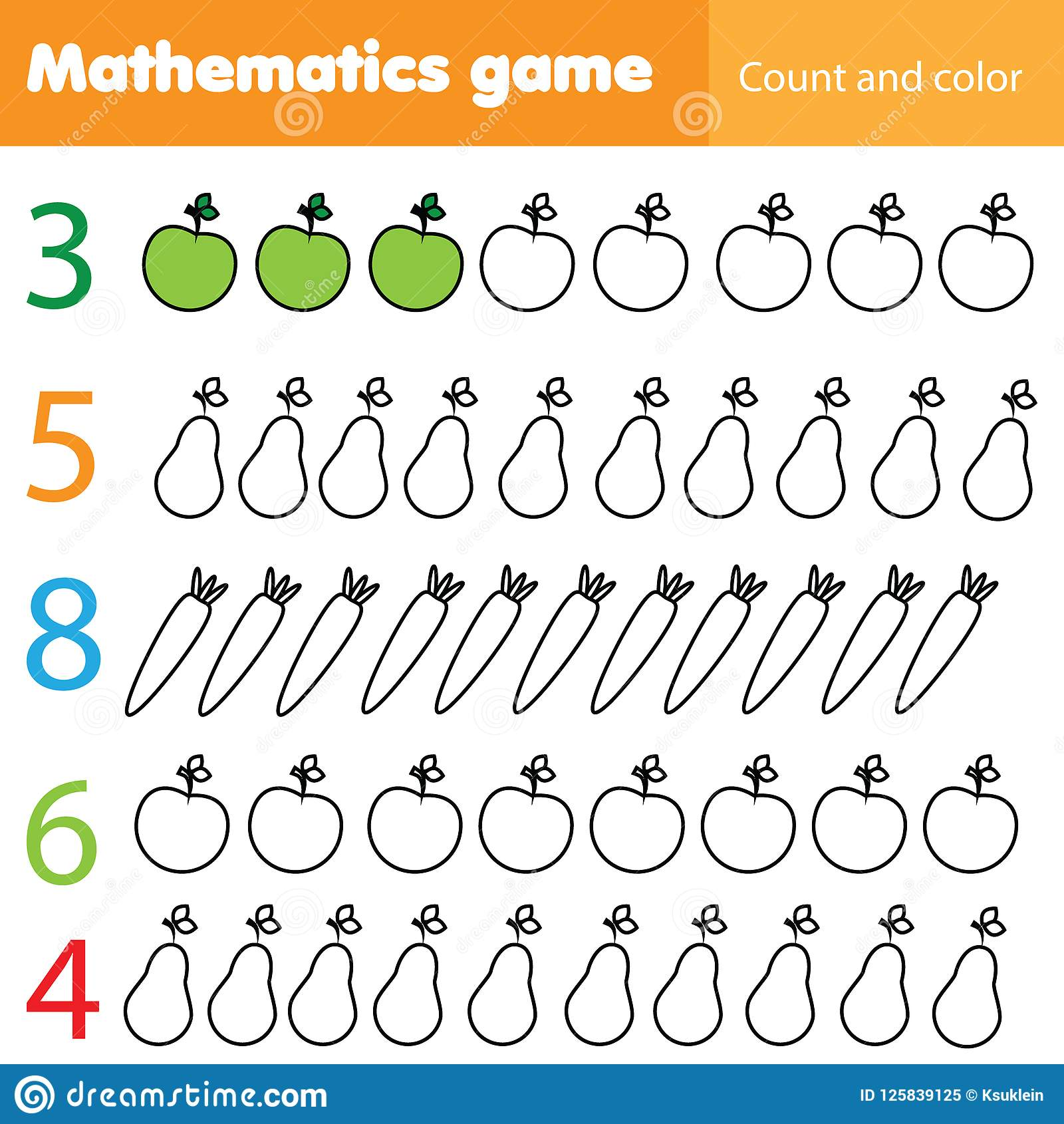 Worksheet Fruits Preschool