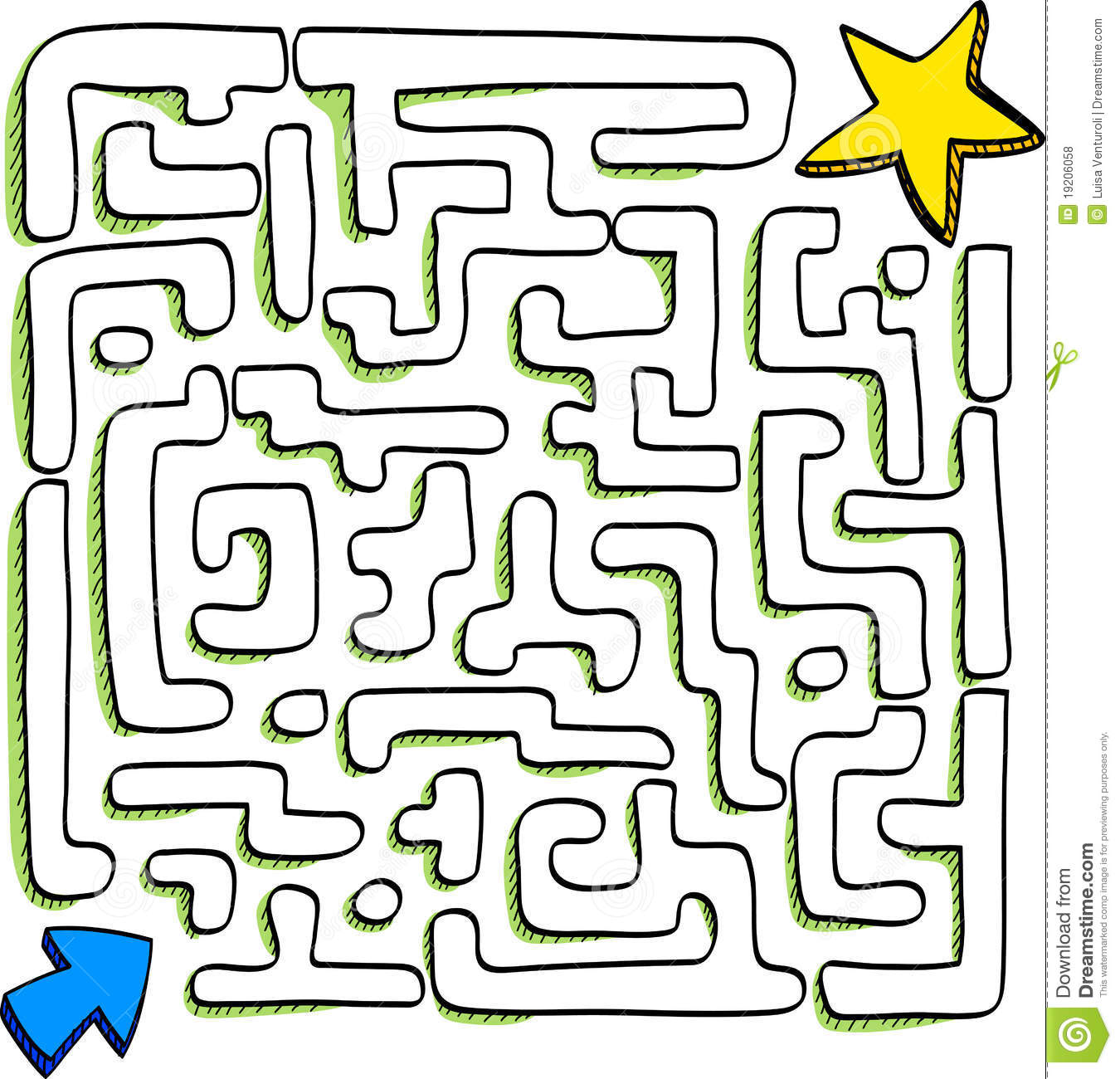 Maze Stock Illustration Illustration Of Path Commitment