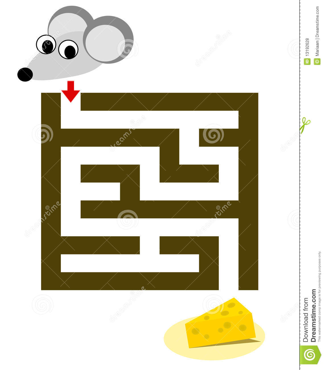 Maze For Children With Mouse Amp Cheese Royalty Free Stock
