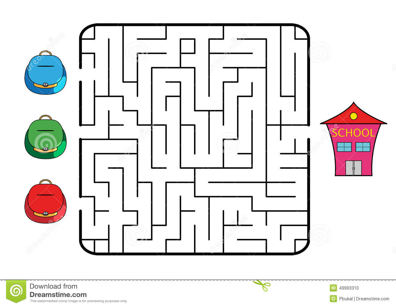 Maze Stock Vector Illustration Of Decision Enter Back