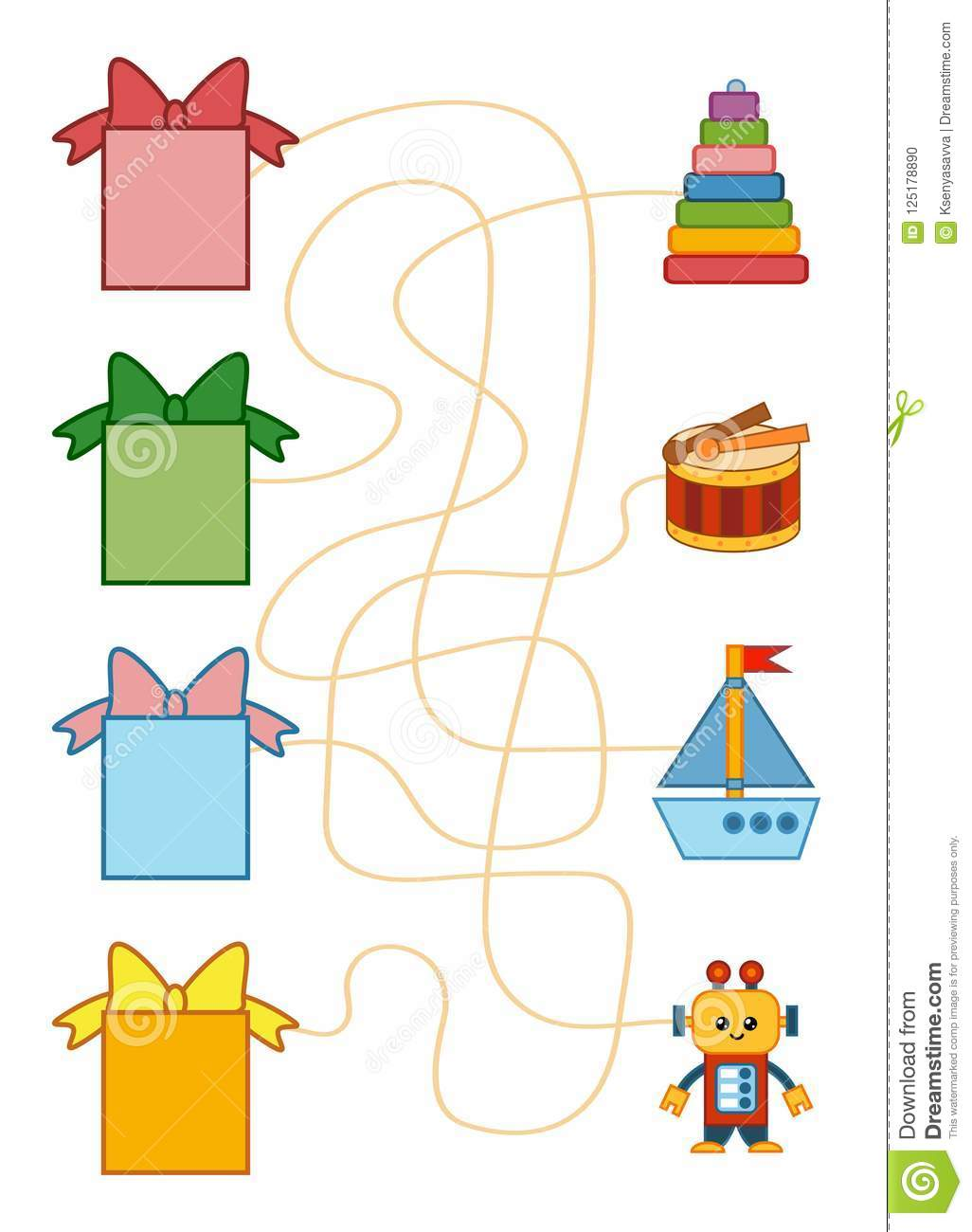 Maze Game For Children Ts And Toys Stock Vector