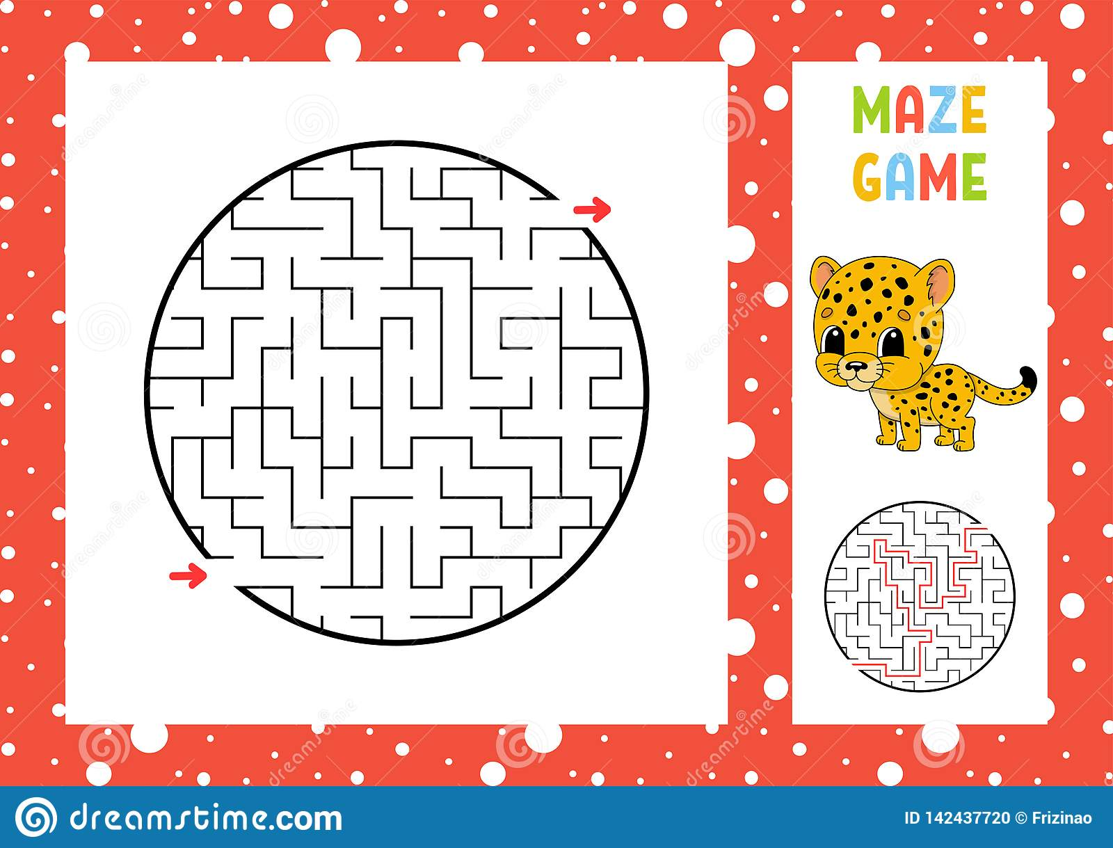 Maze Game For Kids Funny Labyrinth Education Developing
