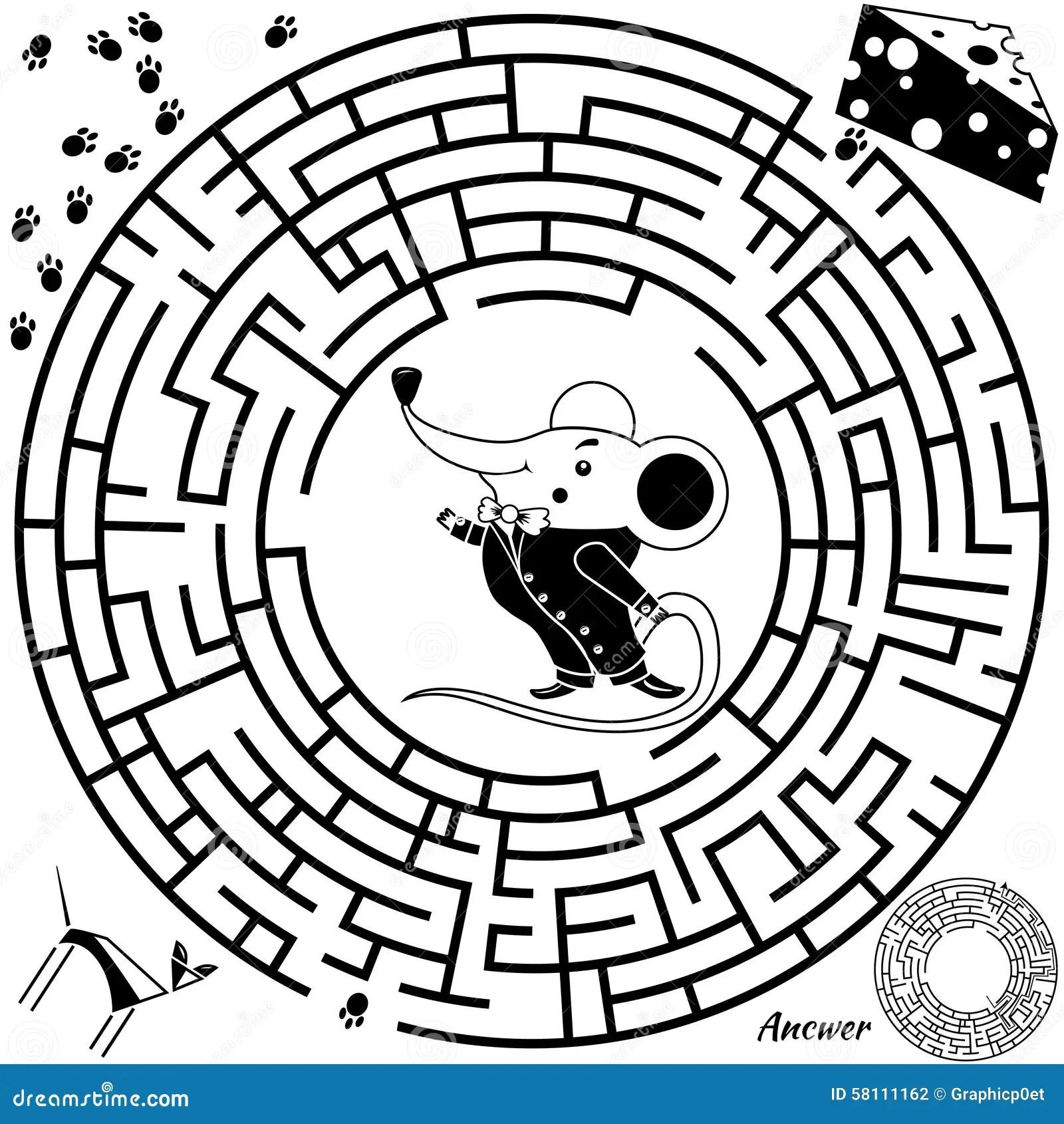 Maze Game For Kids Stock Vector Illustration Of Easy