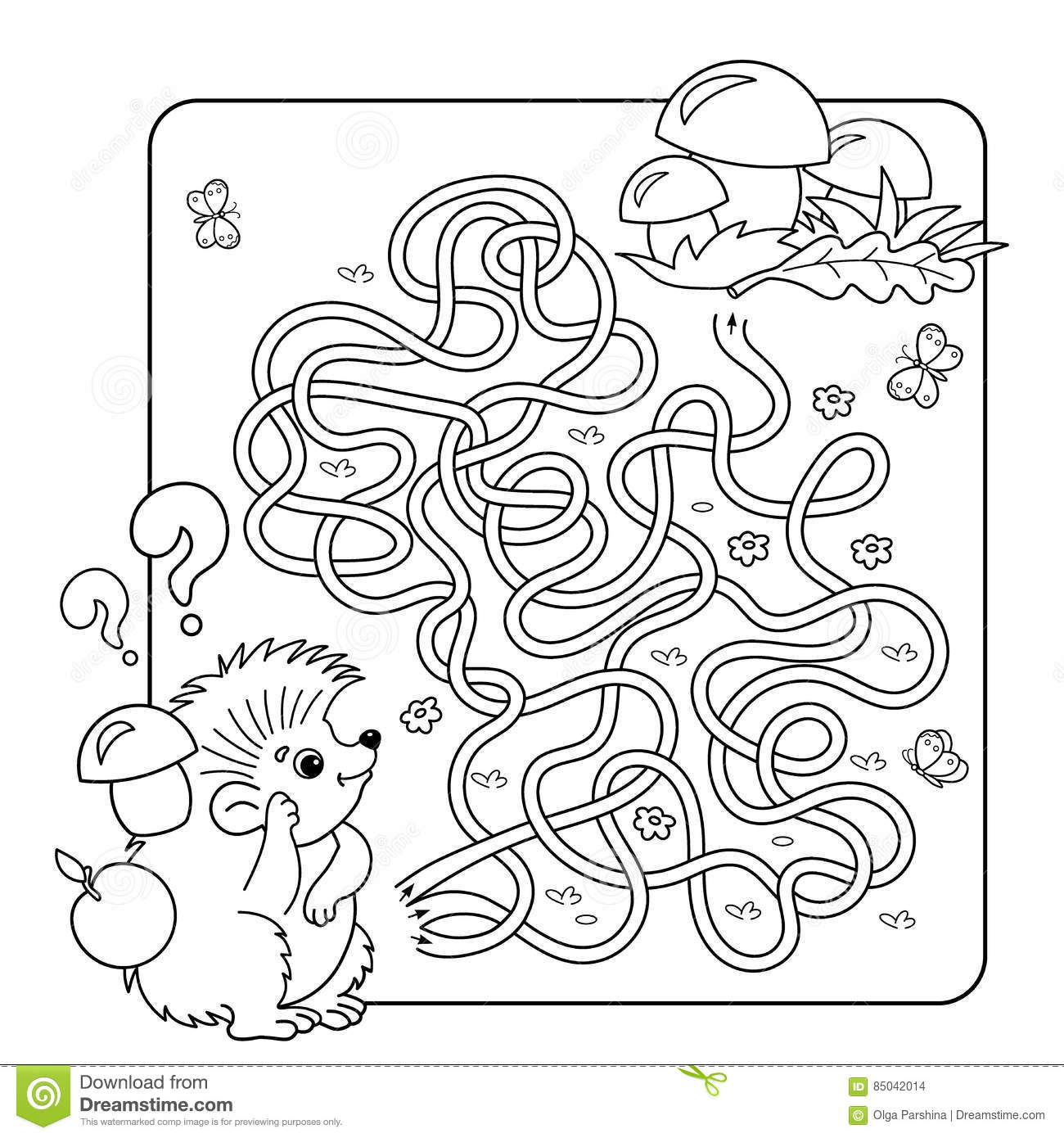 Set Of Maze Puzzle For Kids With Monkey And Banana