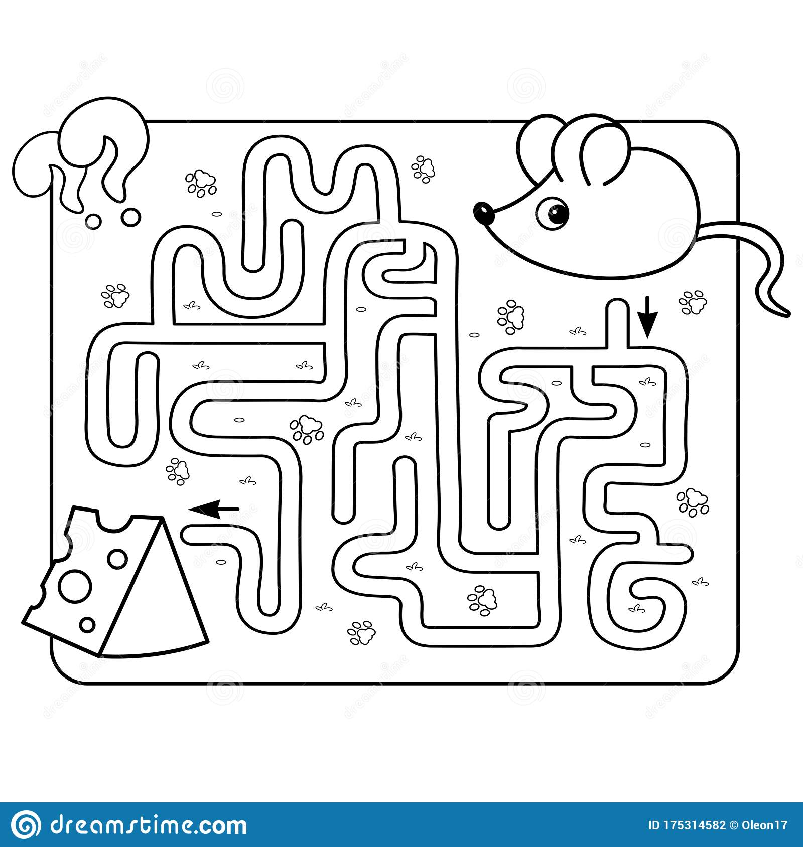 Maze Or Labyrinth Game For Preschool Children Puzzle