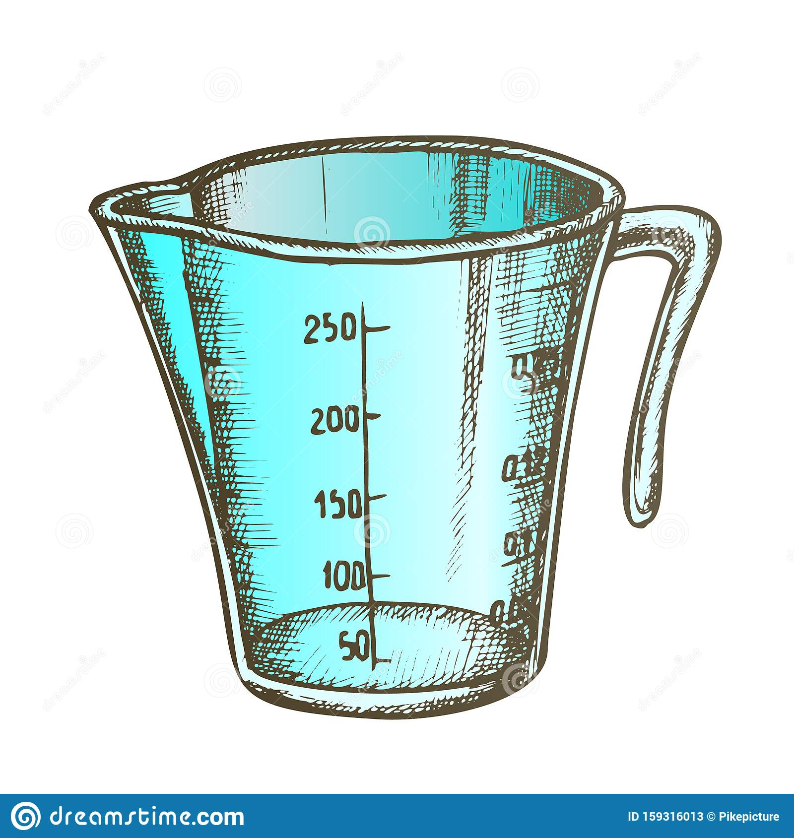 Measuring Cup For Baking And Cooking Color Vector Stock