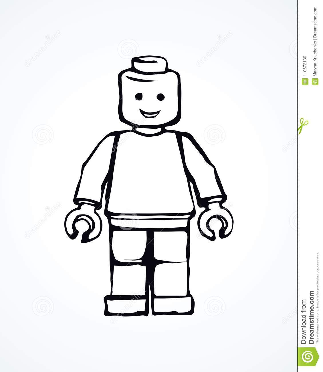 Lego Vector Drawing Editorial Image Illustration Of