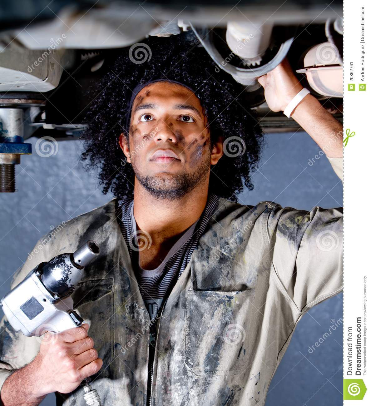 Mechanic in a garage stock image Image of garage repair  20862761