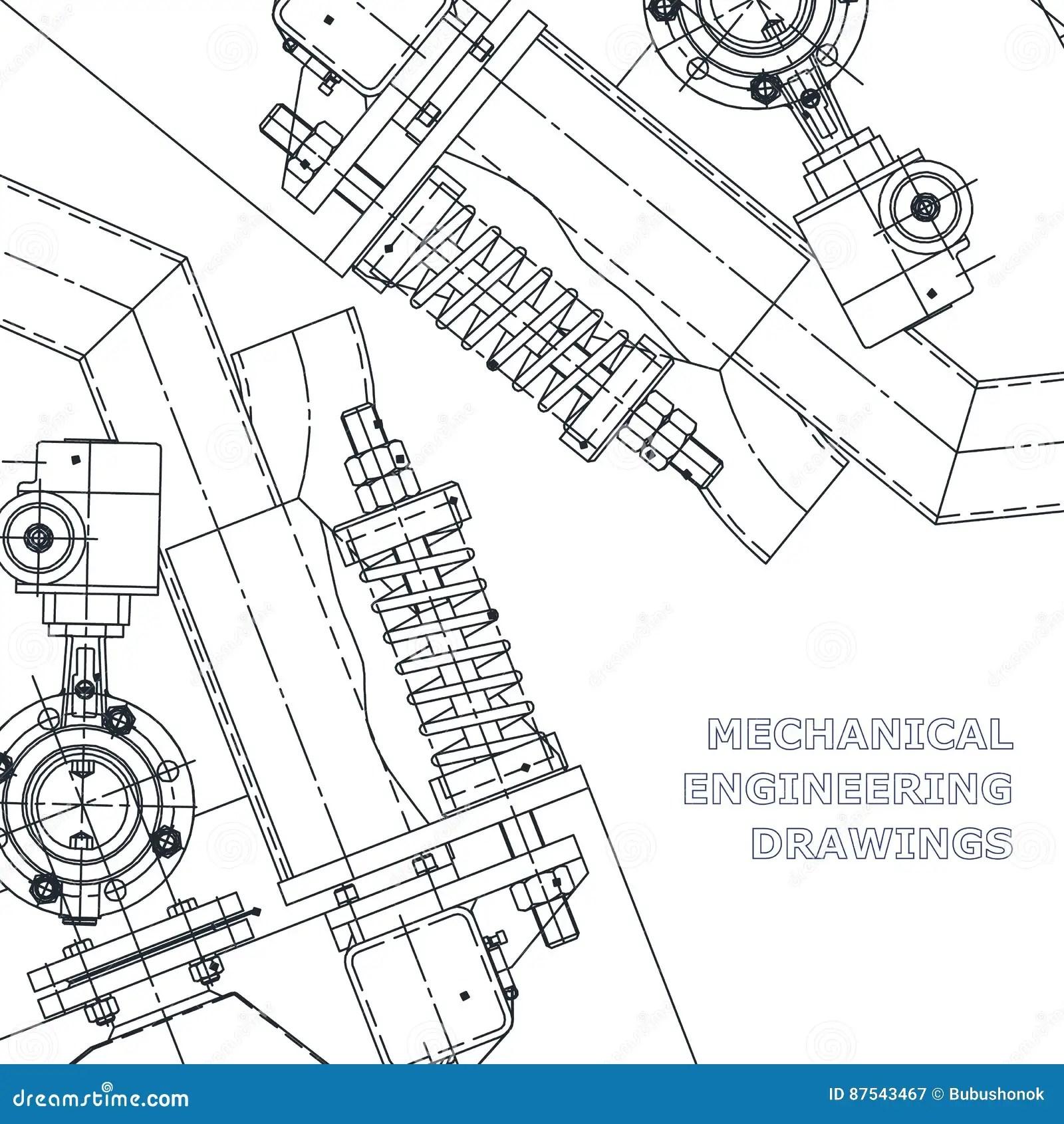 Mechanical Engineering Drawings Stock Vector