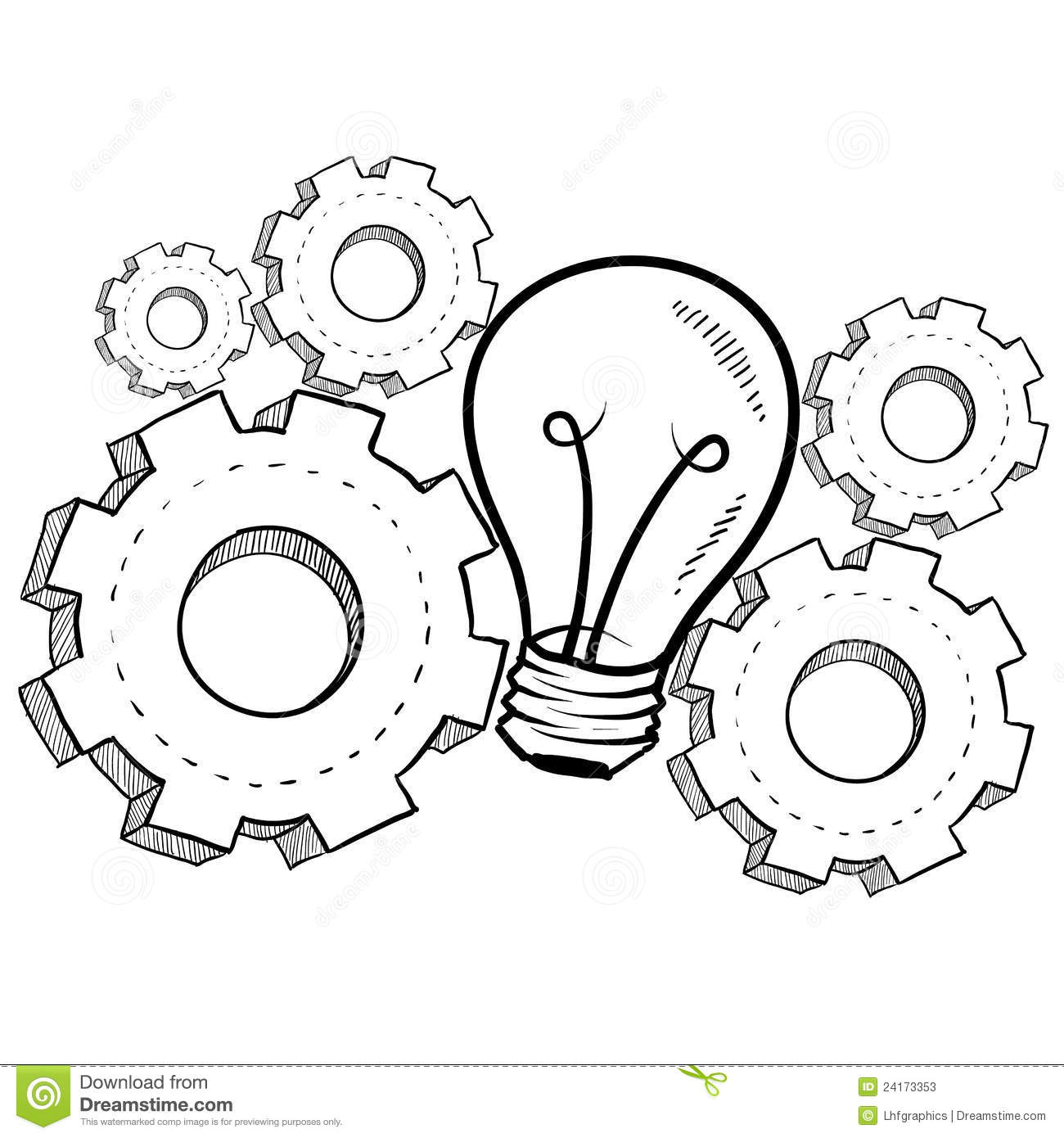 Mechanical Invention Sketch Stock Vector