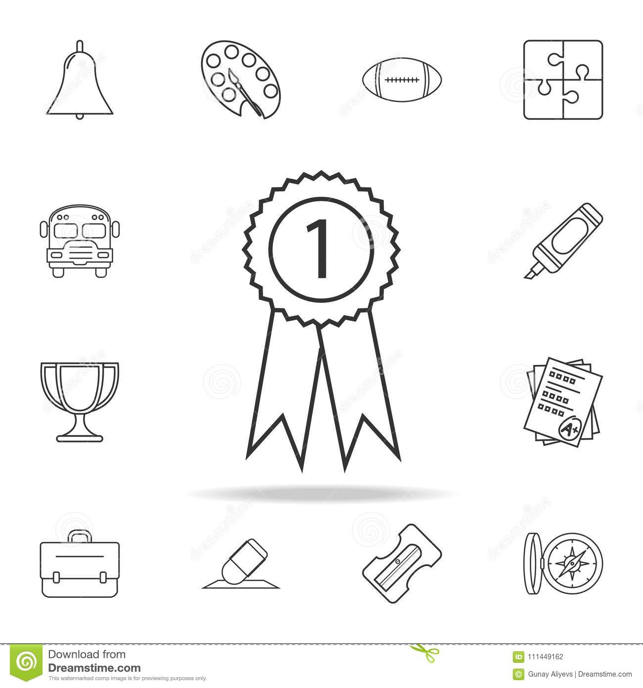 Medal Icon. Detailed Set Of Education Outline Icons