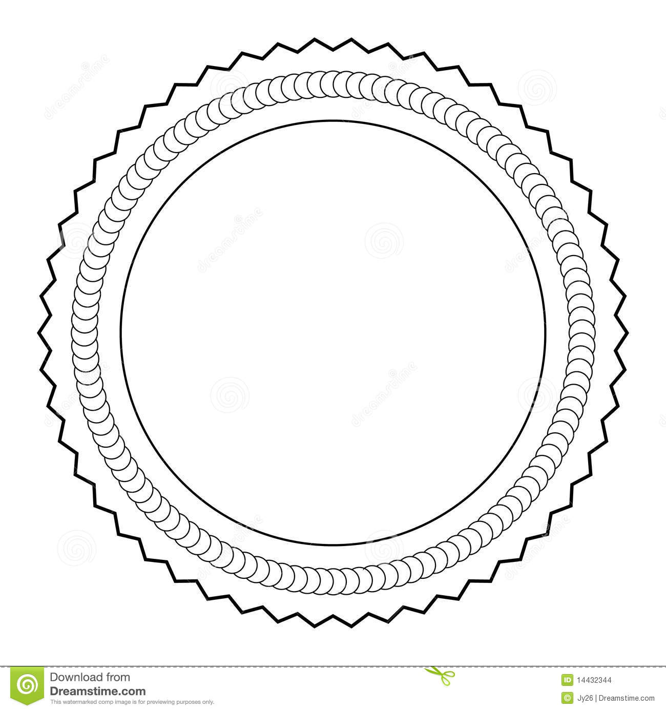 Medal outline stock vector. Illustration of consumer