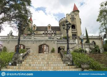 Medellin Antioquia / Colombia October 07 2018 Beautiful Panoramic View Of The Medieval Gothic Castle Museum In Medellin Editorial Photography Image of exposition crystal: 128437677