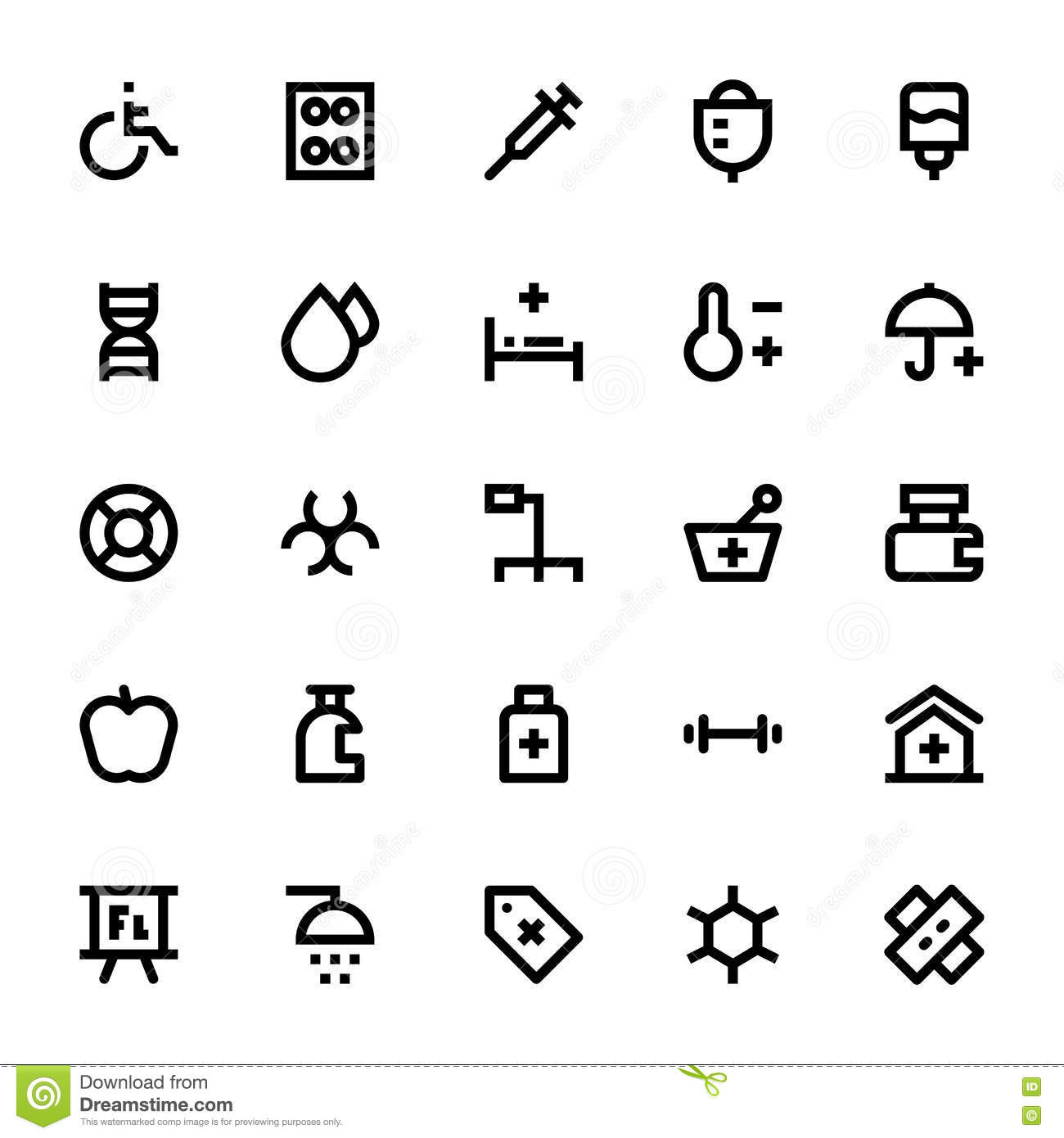 Medical And Health Vector Icons 3 Stock Illustration