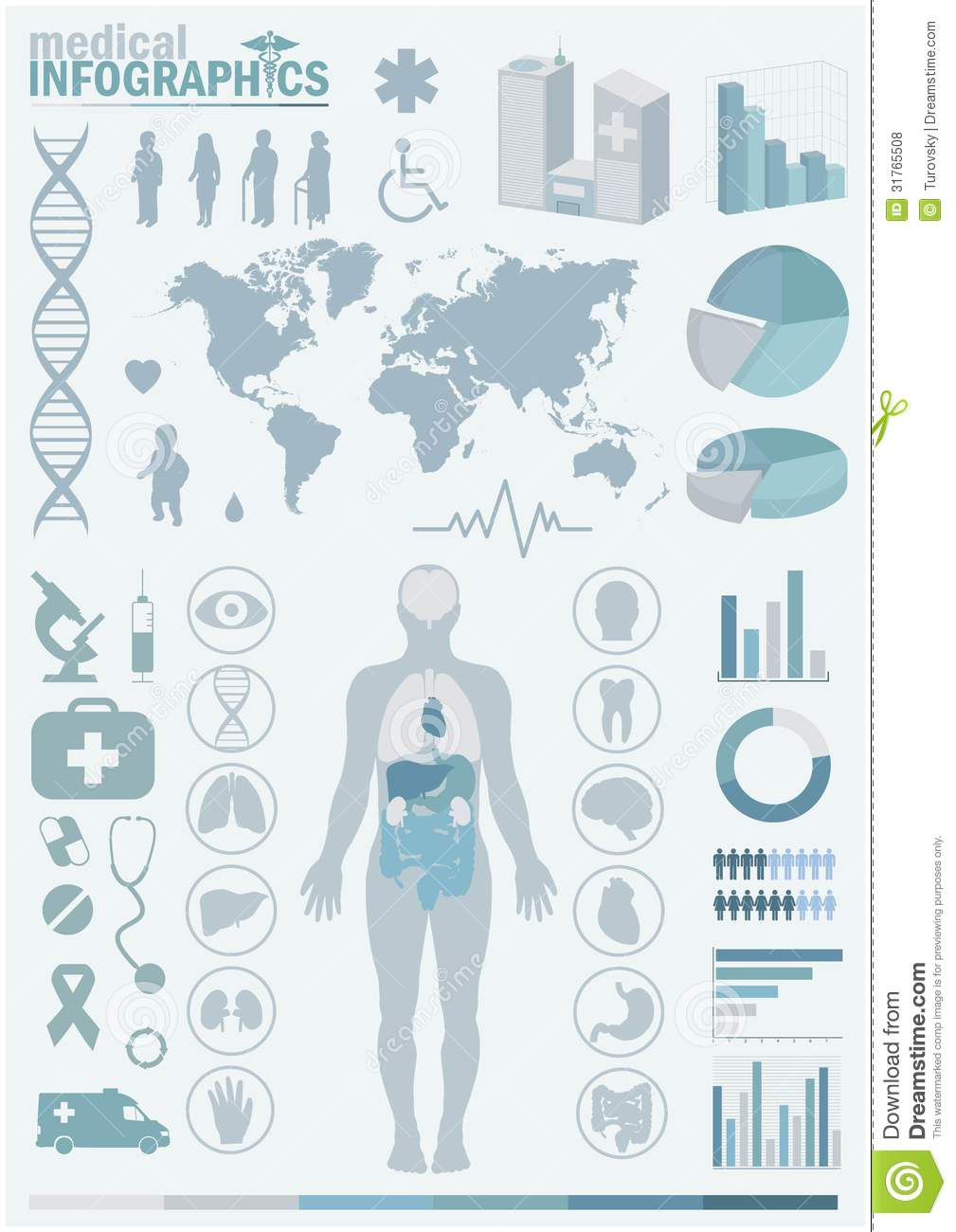 hight resolution of medical infographics