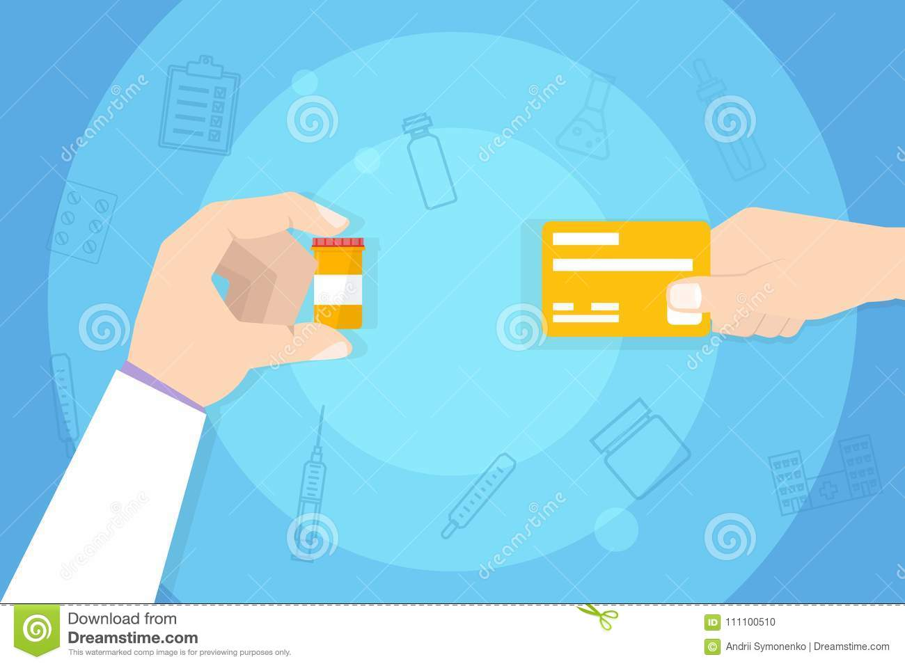 hight resolution of medications purchase buying medicine hand with credit card