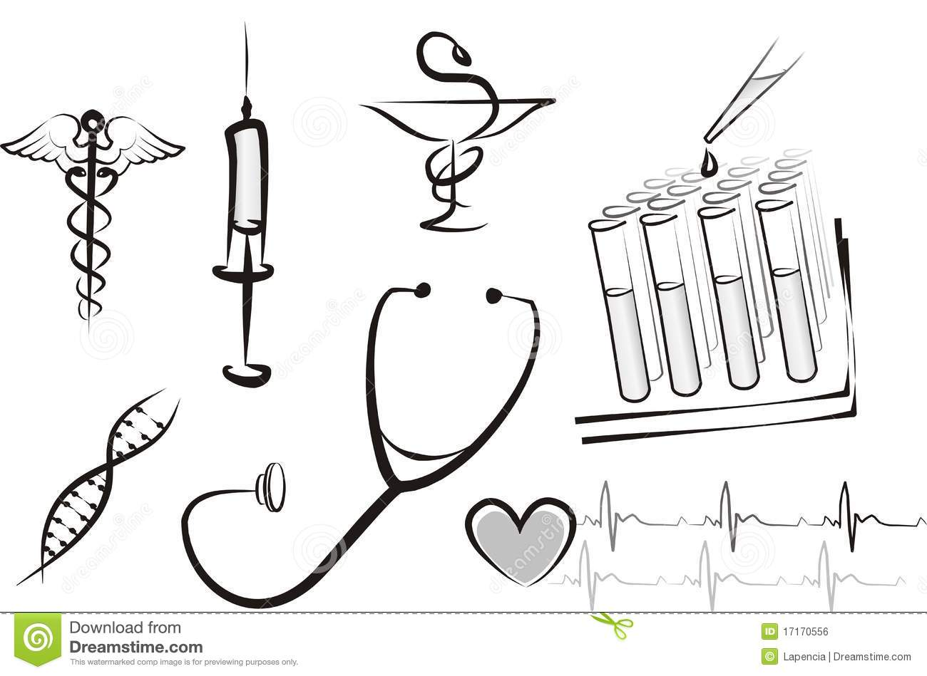 Stethoscope And Ecg Concept Of Emergency Medical Services