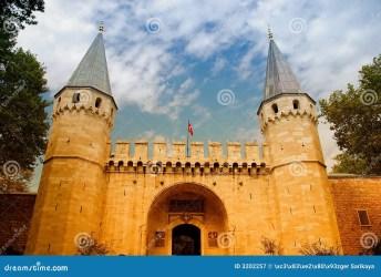 medieval entrance castle royalty palace topkapi historical structure dreamstime