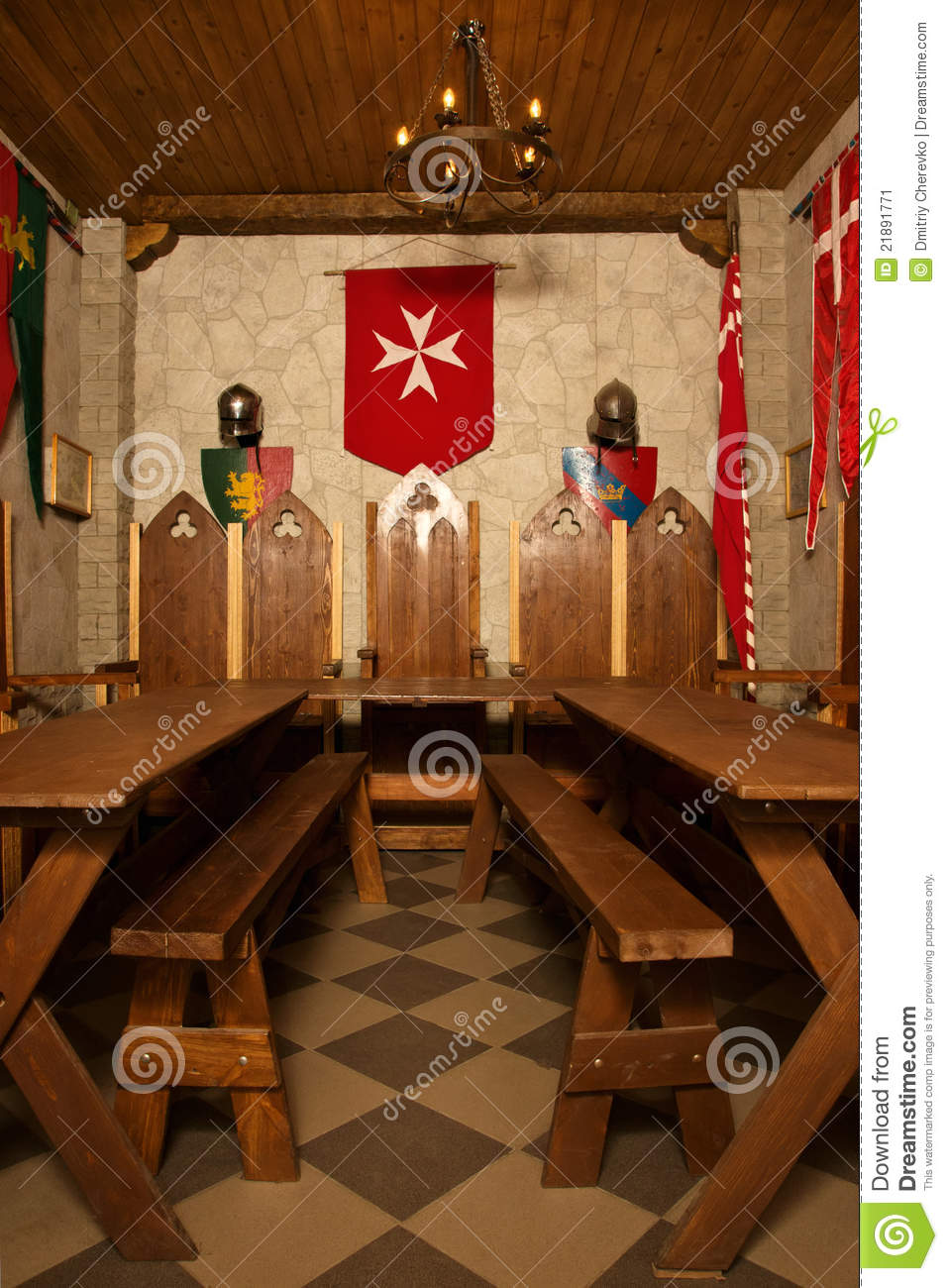 Medieval castle interior stock image Image of architecture  21891771