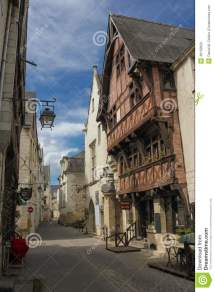 Medieval Houses In Town. Chinon. France Editorial