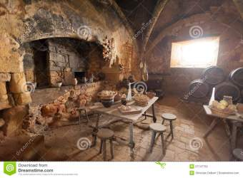 Medieval Kitchen And Dining Room Stock Photo Image of home house: 27147134