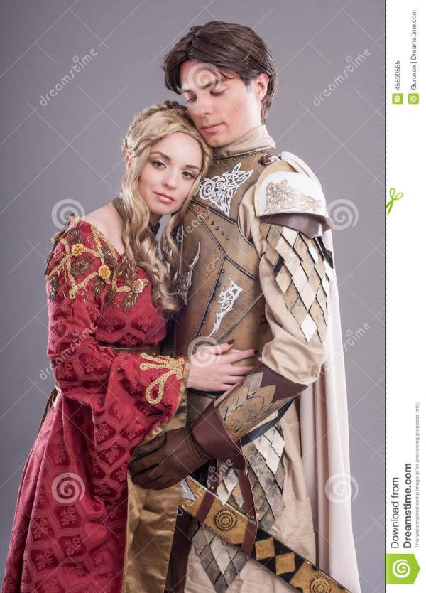 Medieval Lovers Stock - 45599585