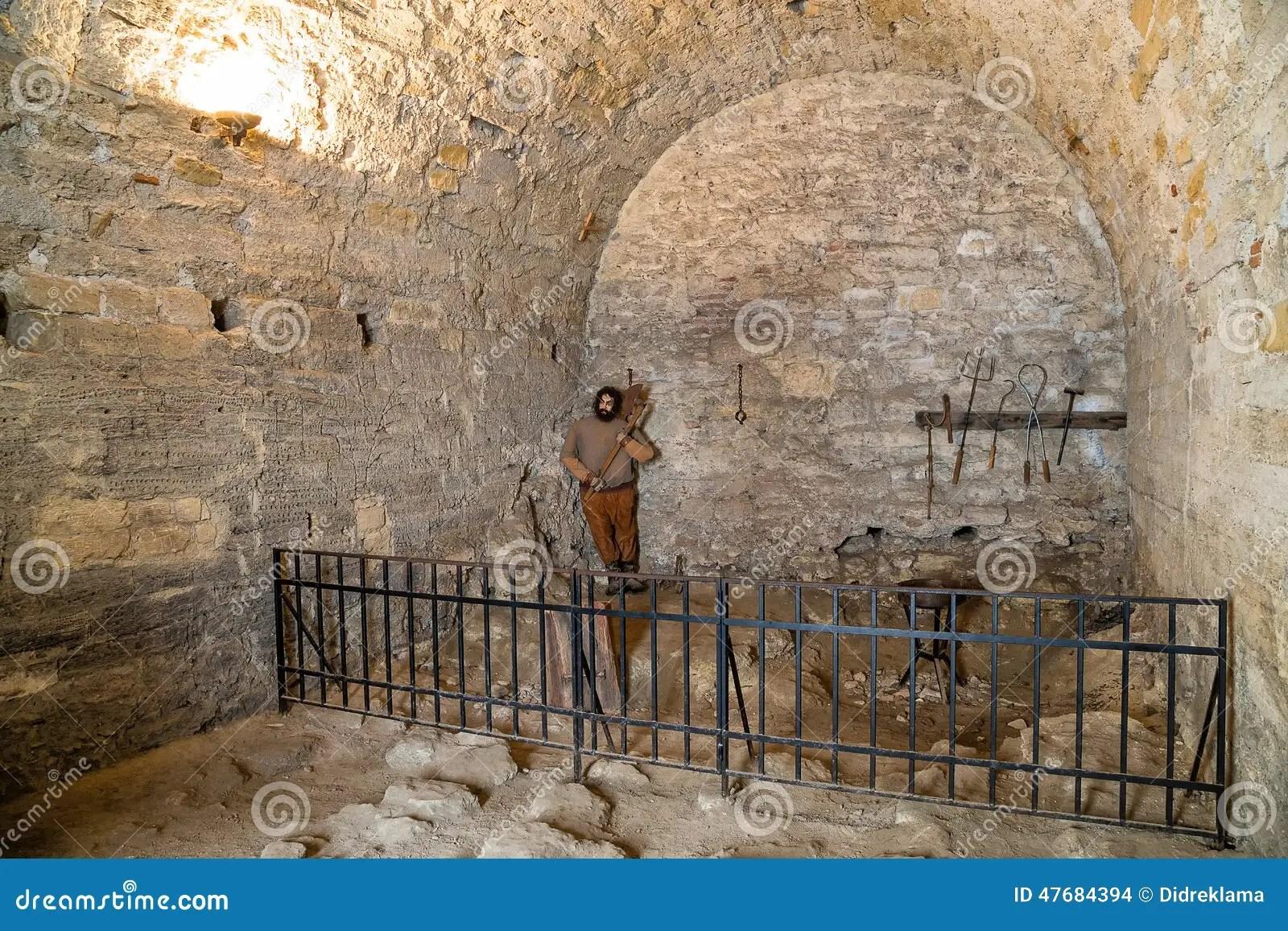 Medieval Prison In Baba Vida Fortress Stock Photo  Image