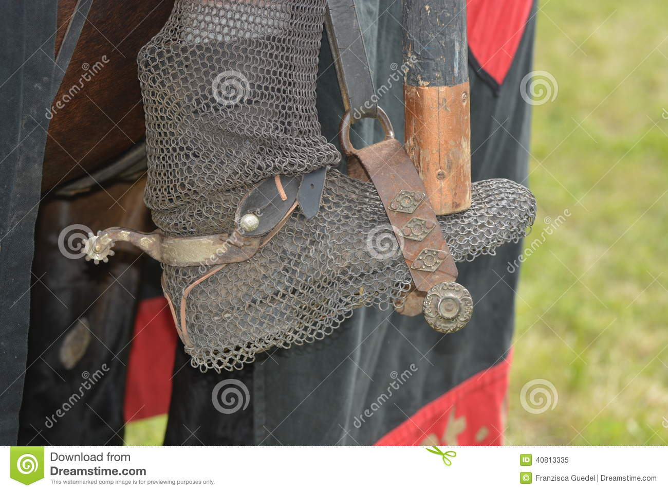 Medieval Riding Boot In Stirrup Stock Image  Image 40813335