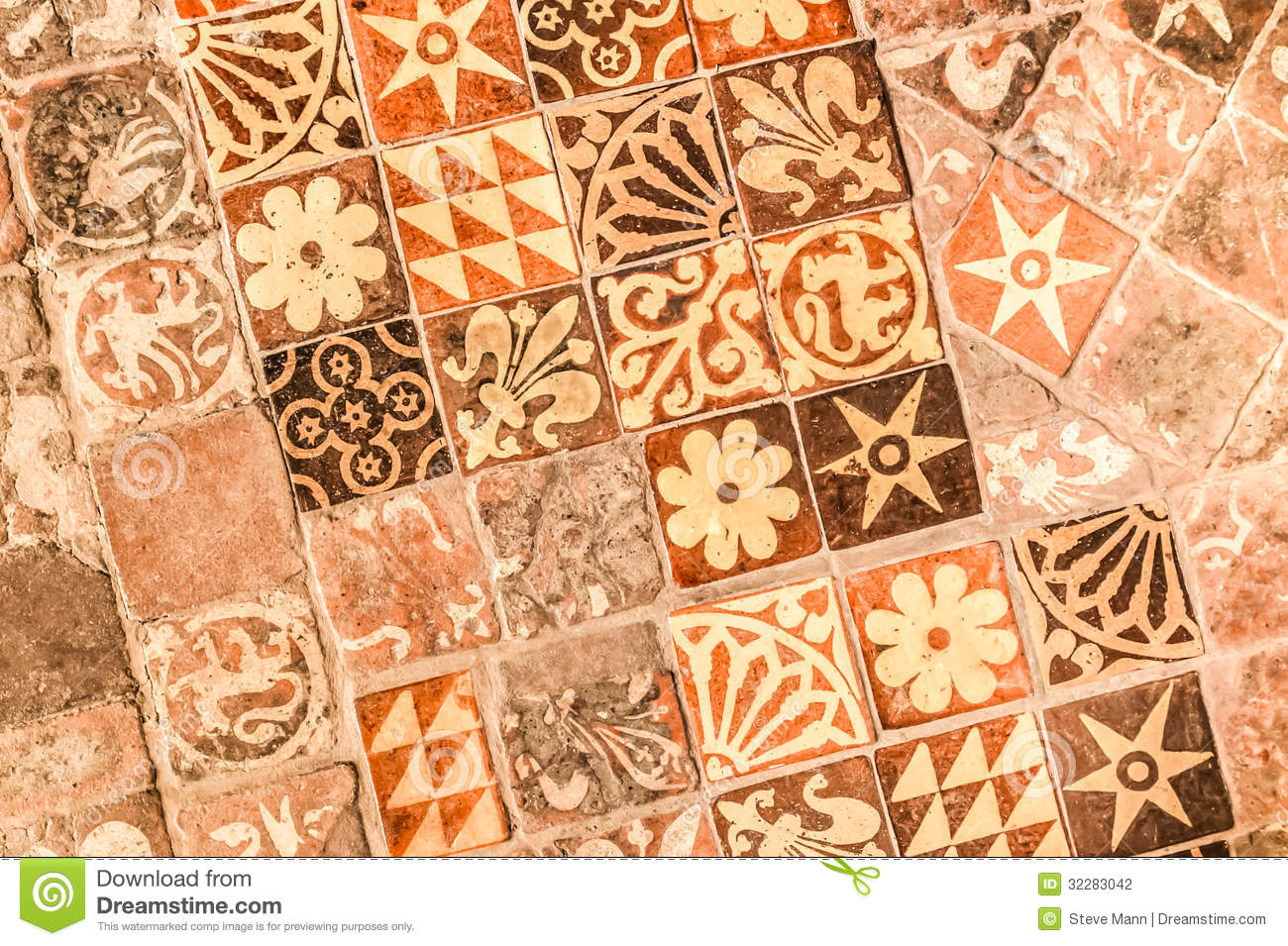 Medieval tiles stock photo Image of flooring mosaic