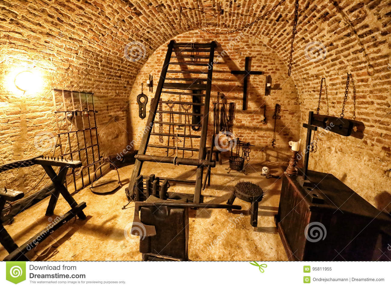 Medieval Torture Chamber With Plenty Of Tools Editorial