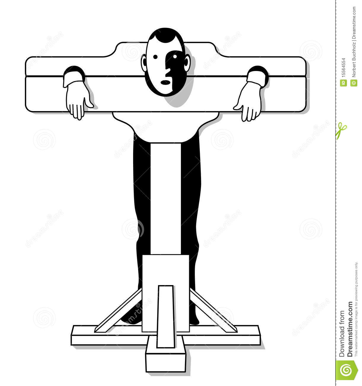 Medieval torture device stock vector. Illustration of